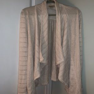 Lucky Brand Creme Crochet & Cotton Sweater